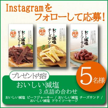 【Instagramをフォローして応募しよう!】おいしい減塩3点詰め合わせ!!【5名様】