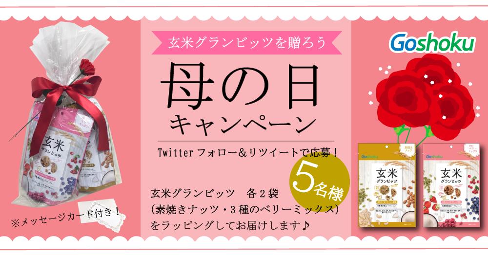 【Twitterフォロー&RT】玄米グランビッツ 母の日キャンペーン【5名様】