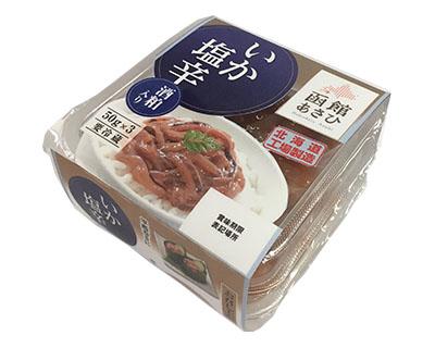 函館あさひ いか塩辛50g3連(酒粕入り)